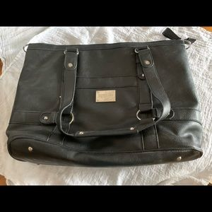 Black Kenneth Cole Reaction laptop tote